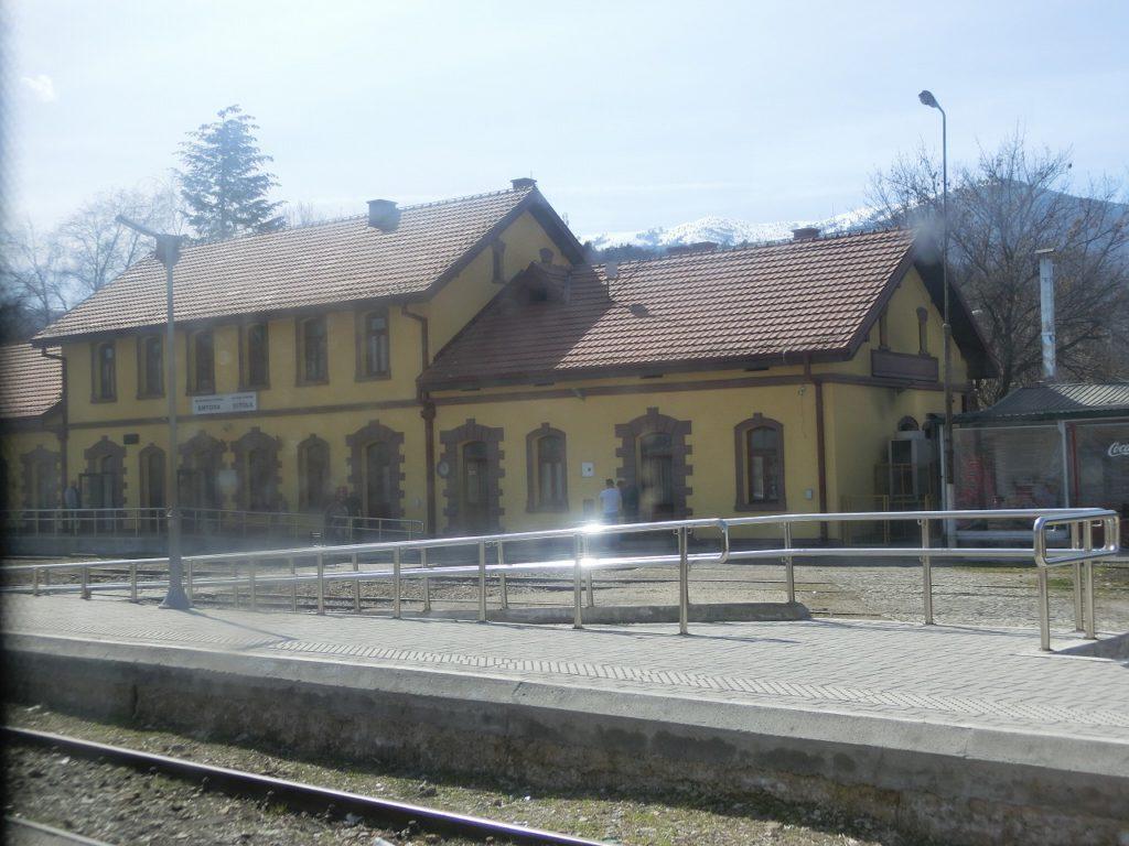 北マケドニア共和国のビトラ駅の駅舎