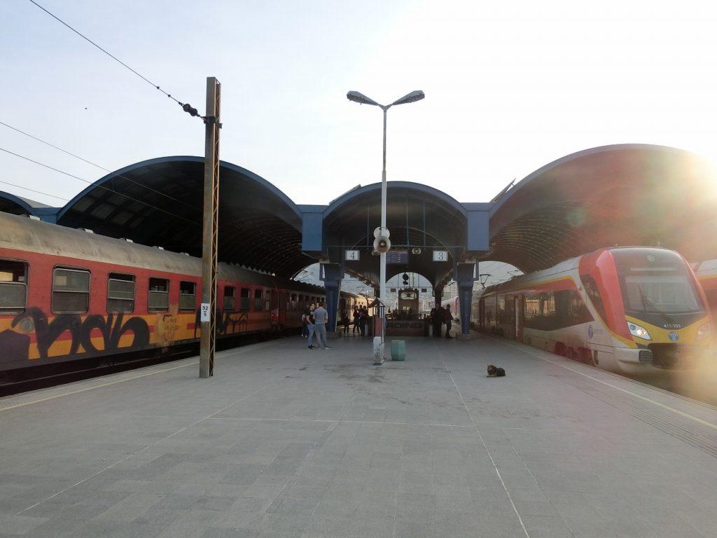 スコピエ駅のホーム
