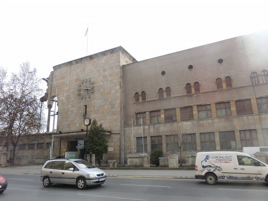 旧鉄道駅を利用したスコピエ博物館