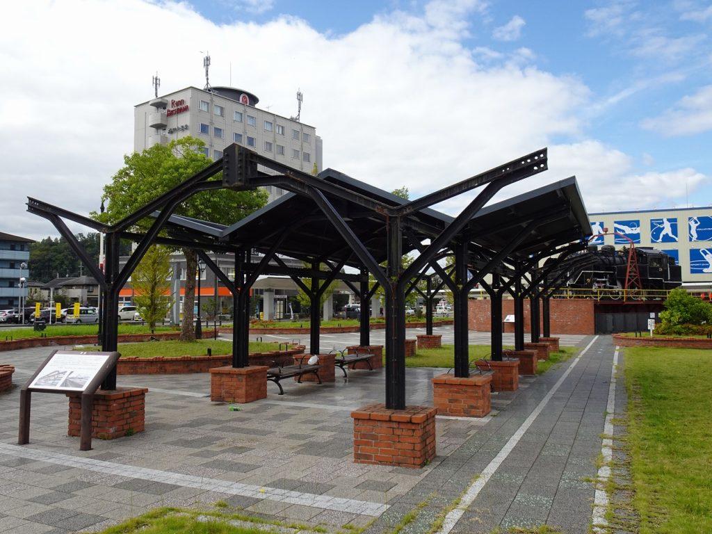 福知山駅で昔使われていたホームの柱