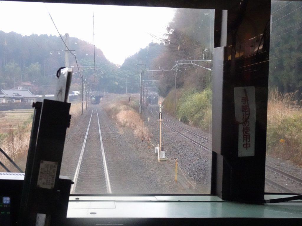 東北本線の矢板駅付近の車窓