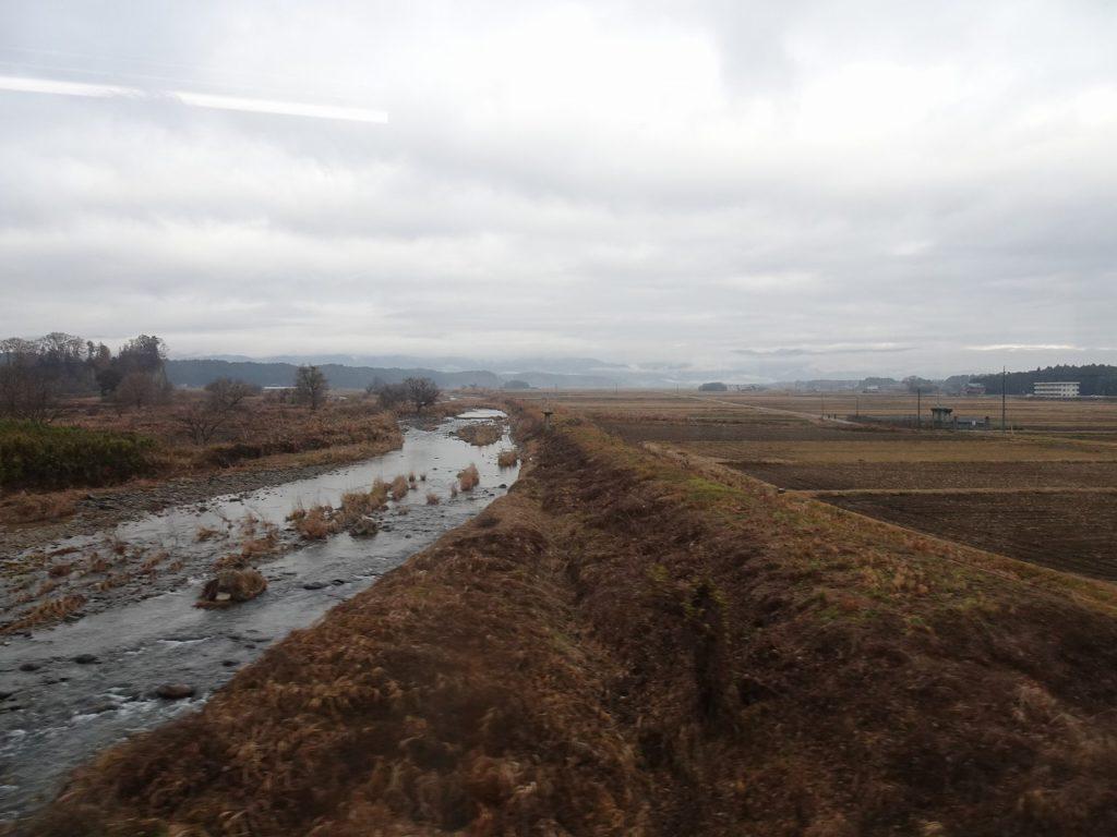東北本線の箒川橋梁からの眺め