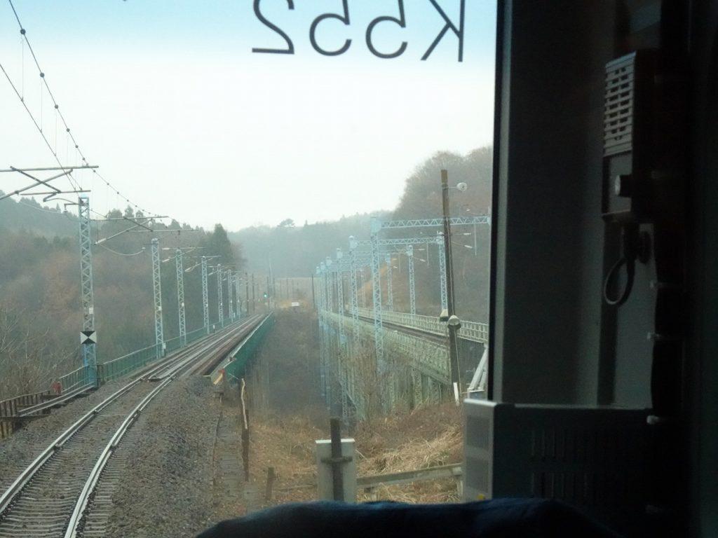 撮影スポットとしても有名な東北本線の黒川橋梁