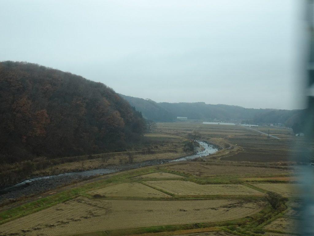 東北本線黒川橋梁からの眺め