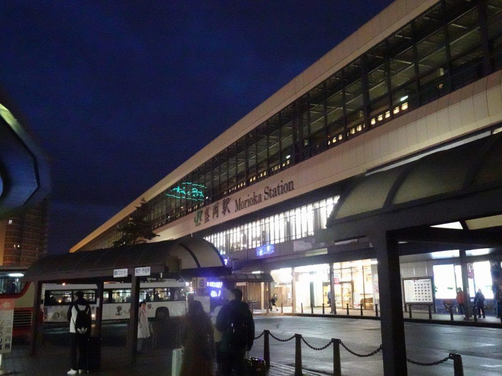 東北本線の盛岡駅