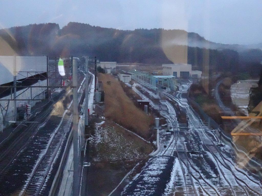 奥津軽いまべつ駅の構内の配線