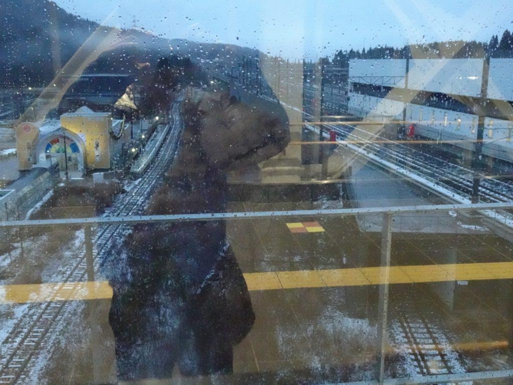奥津軽いまべつ駅の構内の配線と津軽二股駅