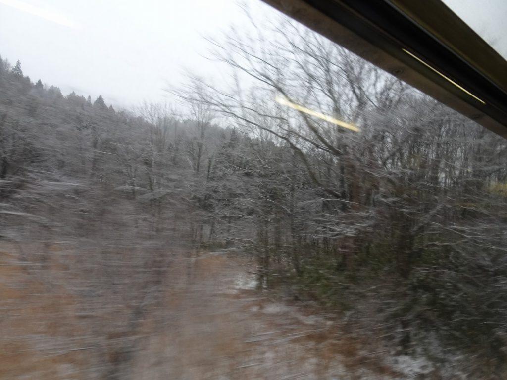 津軽線の津軽二股から大平までの車窓