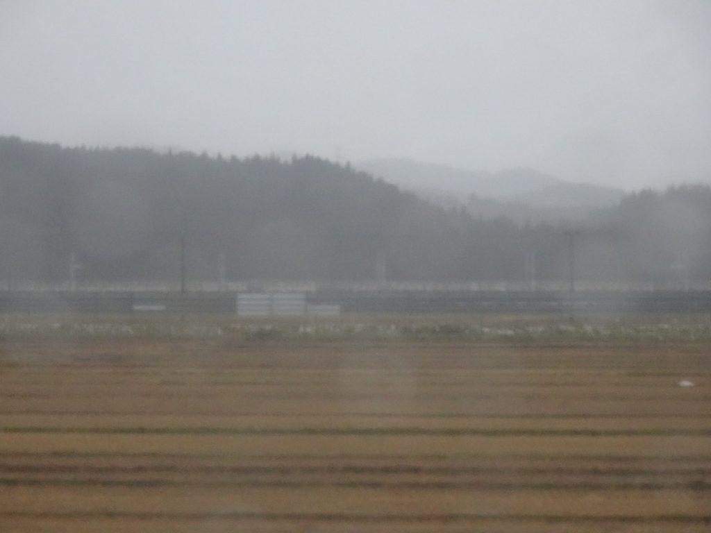 津軽線から北海道新幹線を見る