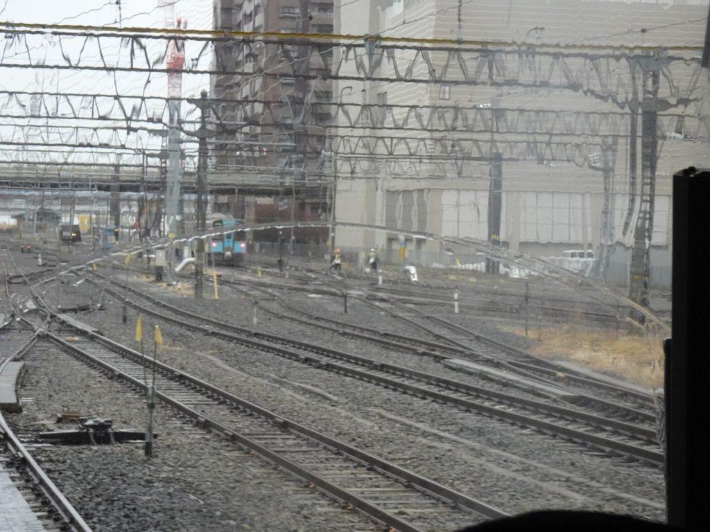 奥羽本線と青い森鉄道の合流