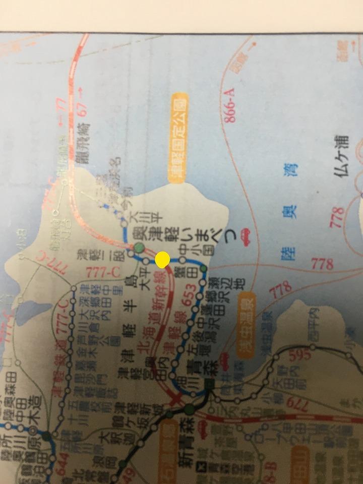 津軽線・海峡線の路線図