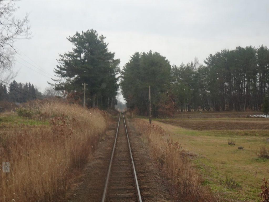 津軽鉄道の車窓