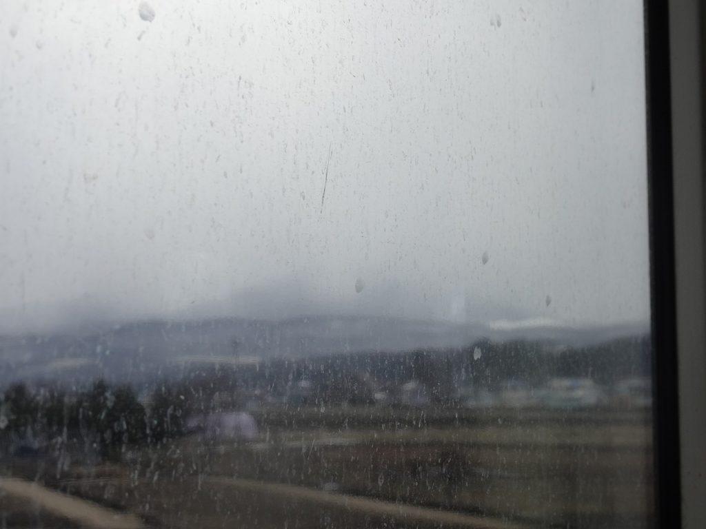 花輪線の松尾八幡平駅付近の車窓