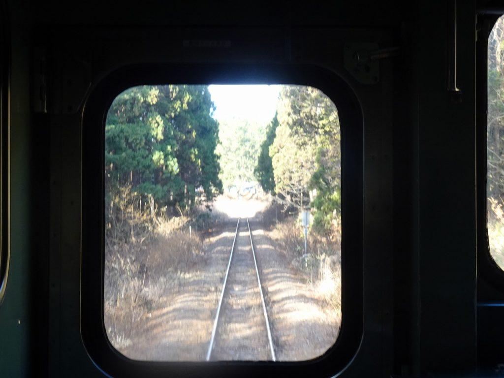 五能線のウェスパ椿山駅付近の車窓