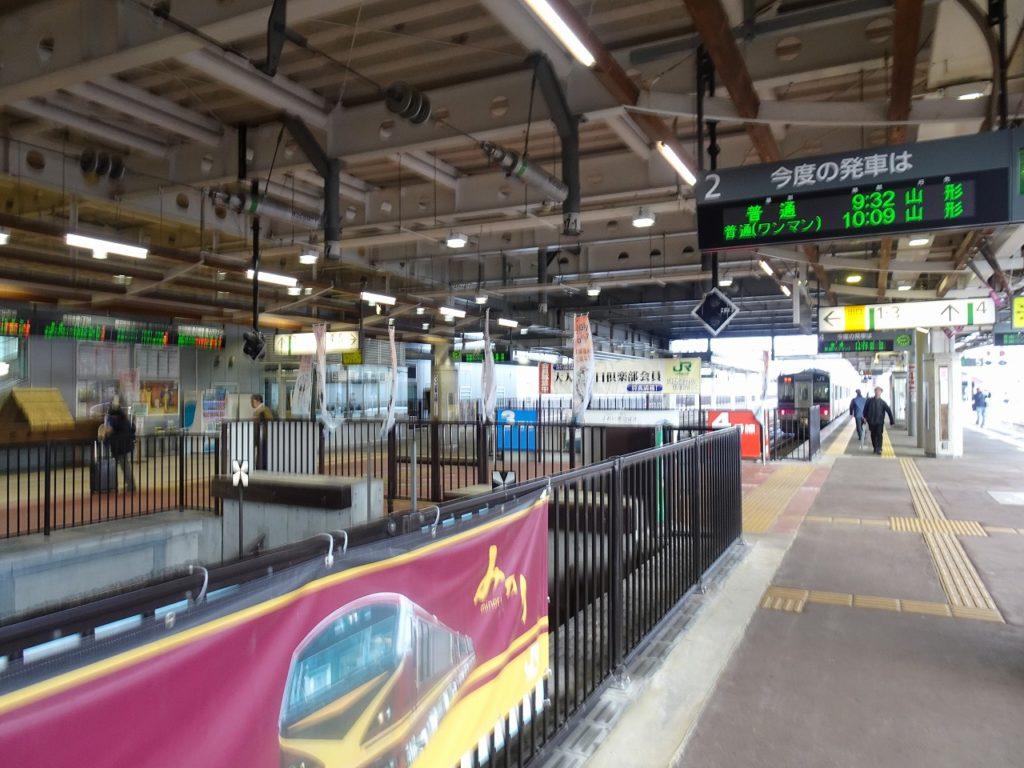 新庄駅の奥羽本線のホーム