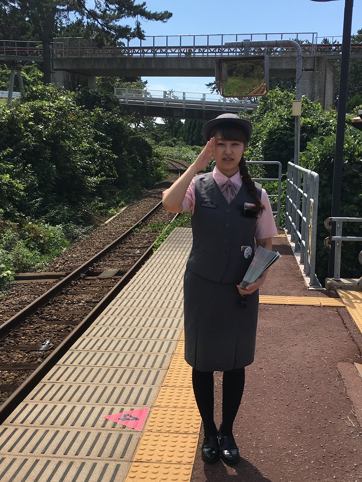 ウェスパ椿山駅の観光駅長