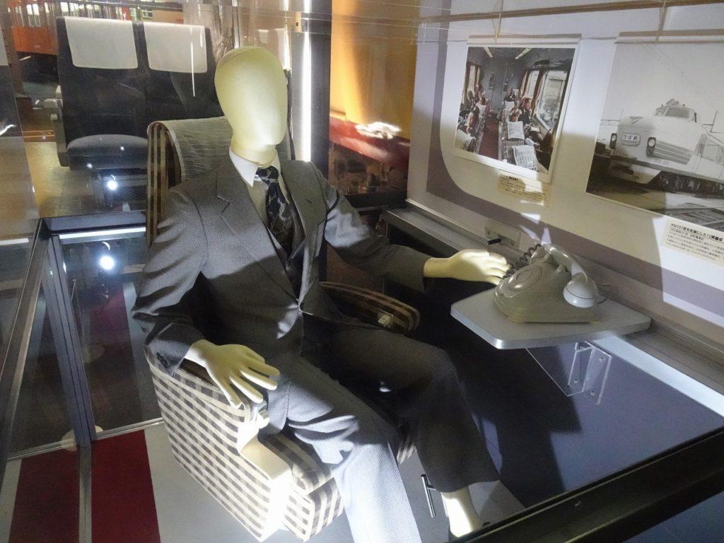 大宮の鉄道博物館にある151系パーラーカーの座席のモデル。