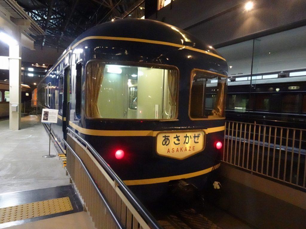 大宮の鉄道博物館にて、1958年に登場した初代ブルトレ、20系「あさかぜ」。