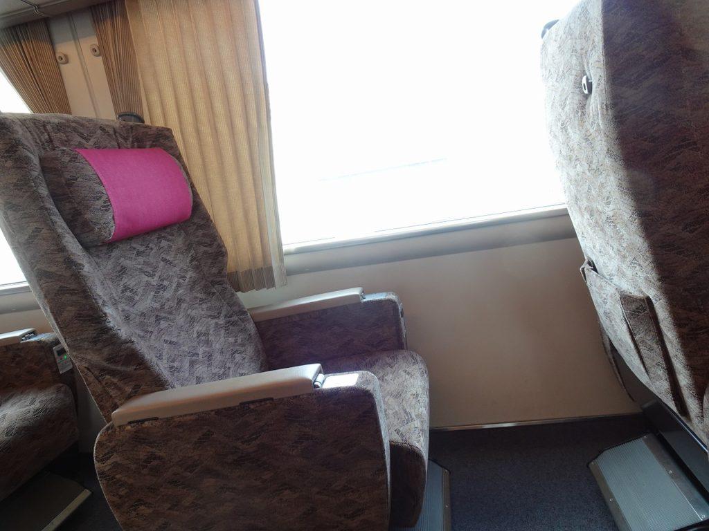 287系のグリーン車の座席