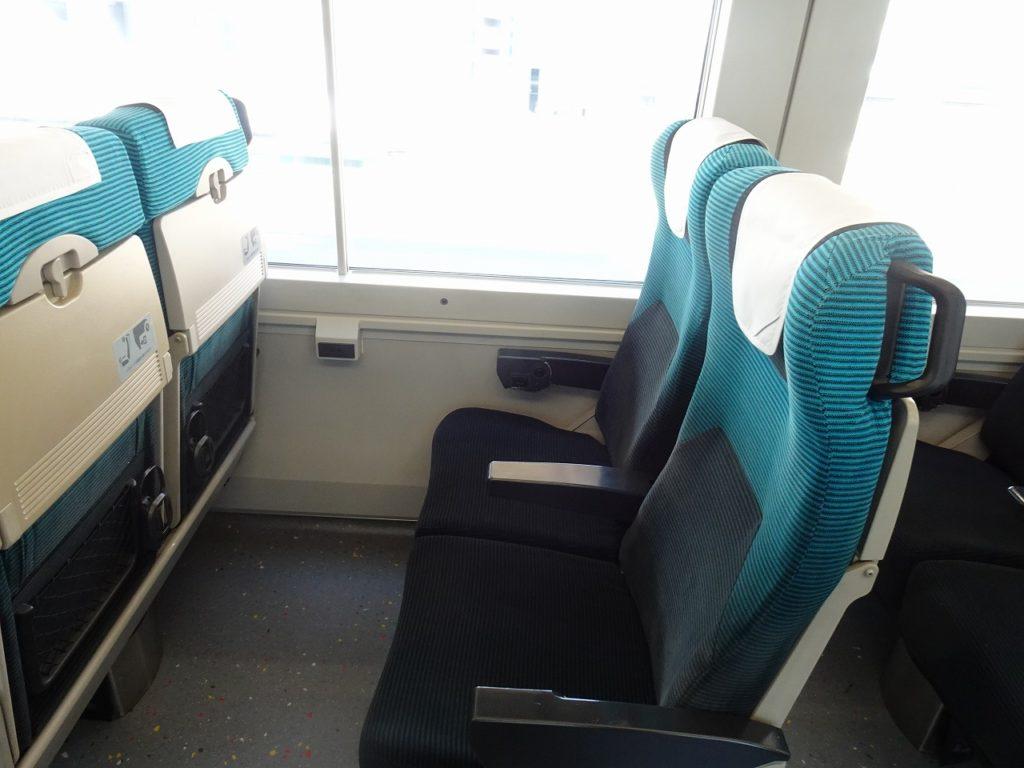E257系の2000番台普通車の座席