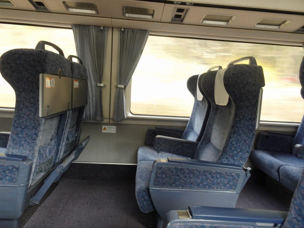 383系のグリーン車の座席