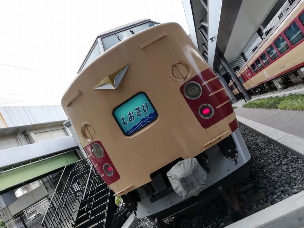 大宮の鉄道博物館でランチトレインとして利用されている183系