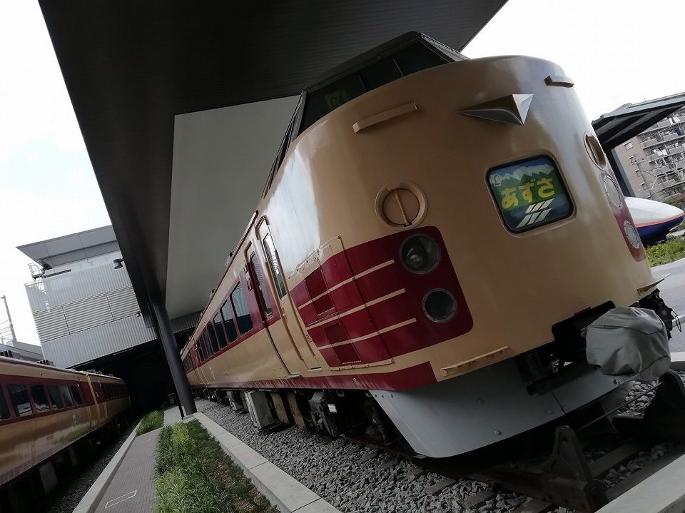 大宮の鉄道博物館でランチトレインとして利用される183系