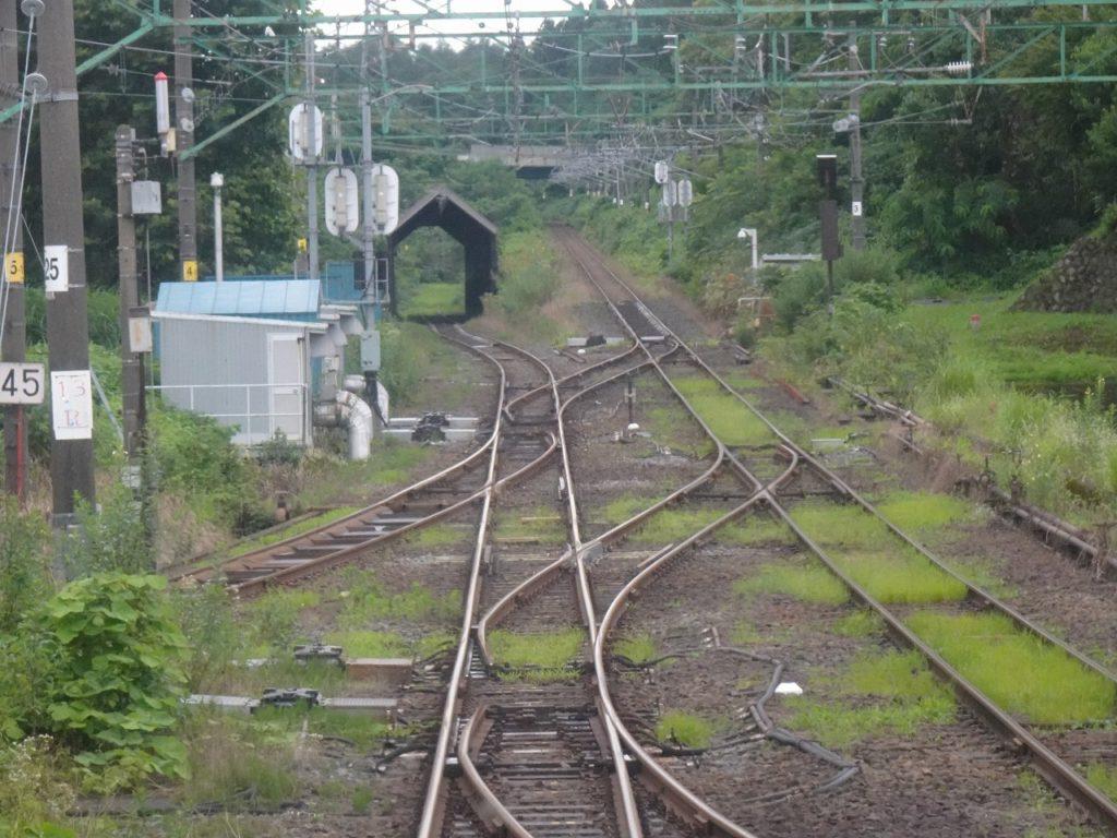 二本木駅のスイッチバック