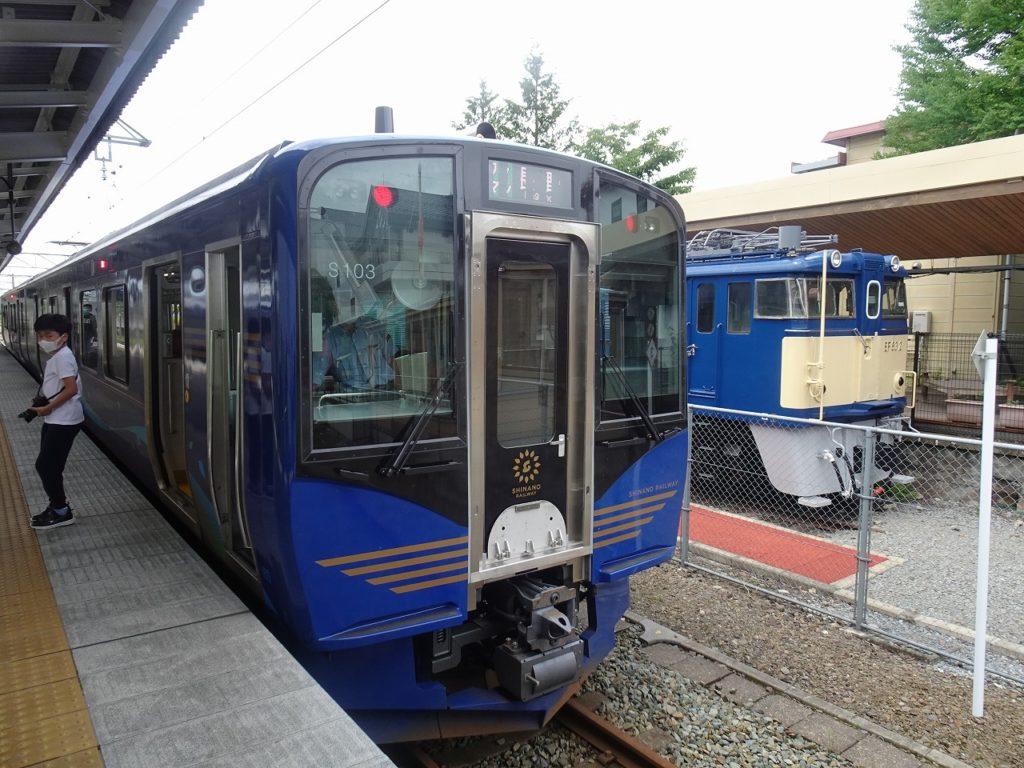 電気機関車EF63としなの鉄道の新型車両