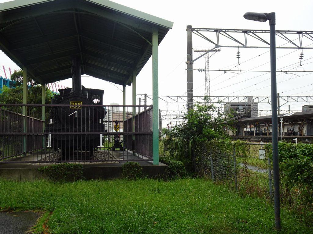鳥栖駅近くの蒸気機関車