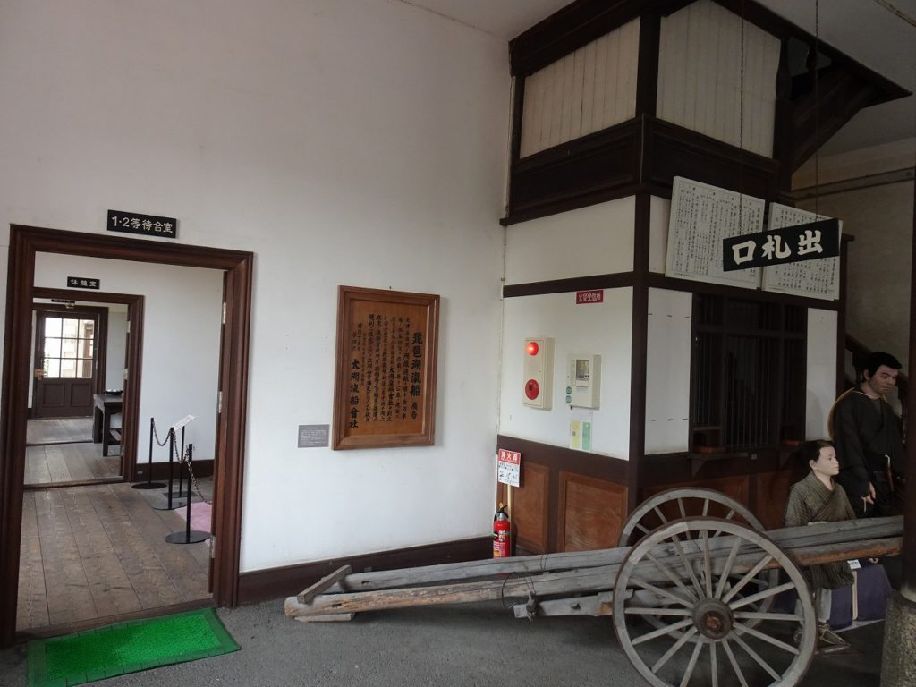 長浜鉄道スクエアの旧駅舎内