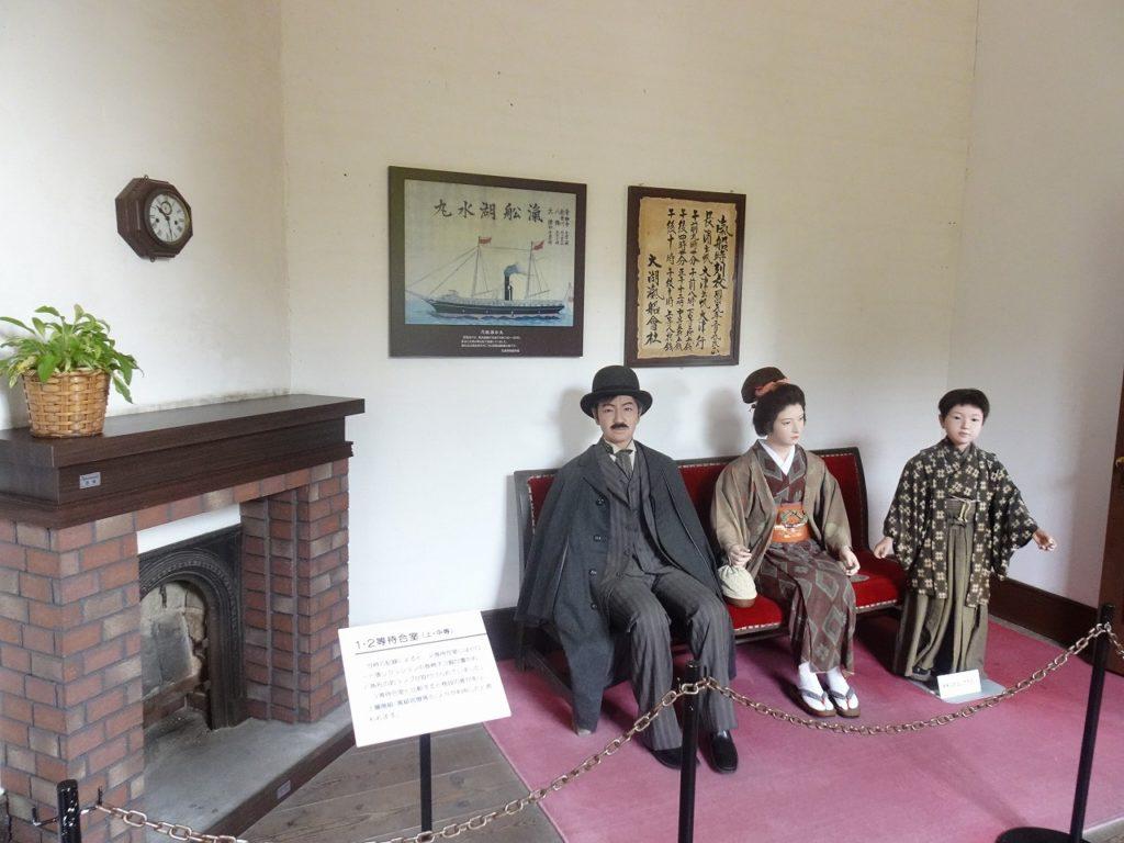 長浜鉄道スクエアの旧駅舎内待合室