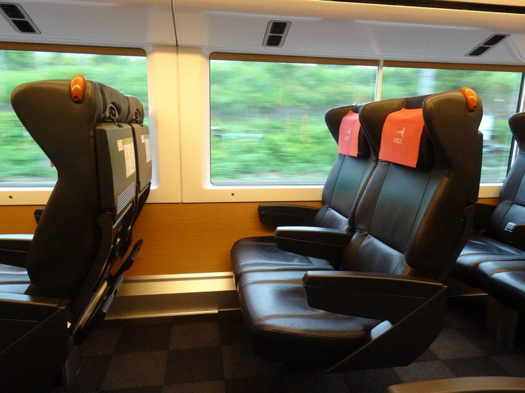 E259系のグリーン車の座席